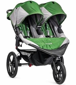 Baby Jogger Summit X3 Twin Double All Terrain Jogging Stroller Green / Gray NEW
