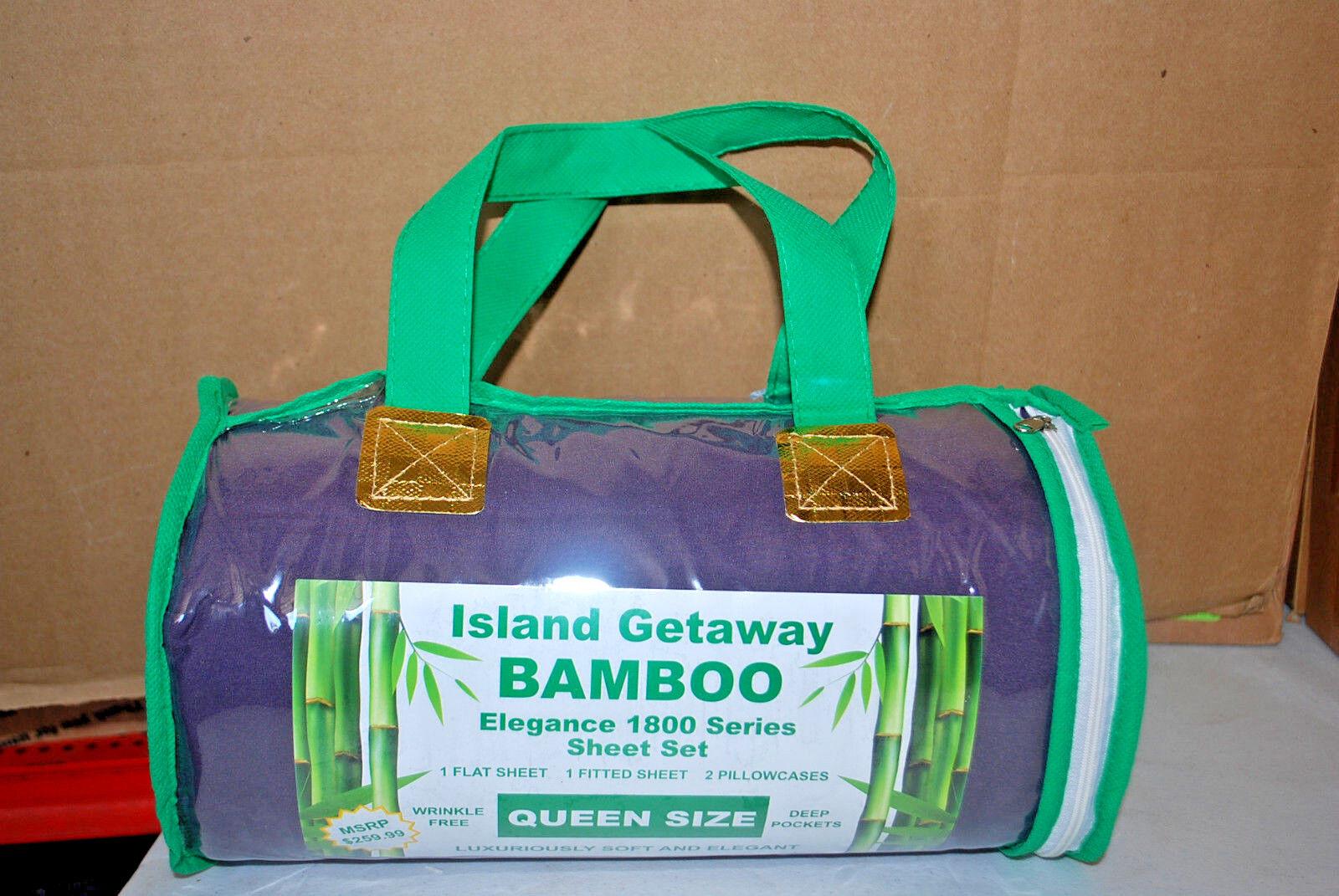 ISLAND GETAWAY BAMBOO ELEGANCE 1800 Series Sheet Set (Assorted) ( S6476)