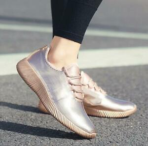 Womens-Girls-Flats-Lace-Up-Sneakers-Casual-Trainers-Sport-Shoes-Sport-Summer-Hot