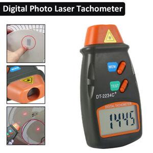 NEU-Digital-Laser-Tachometer-LCD-Tacho-Foto-Beruehrungsloser-Drehzahlmesser-DE