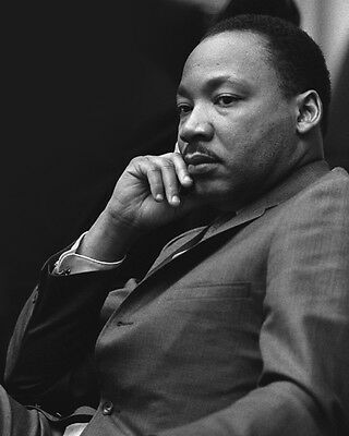 American Activist MARTIN LUTHER KING JR Glossy 8x10 Photo Historical Poster