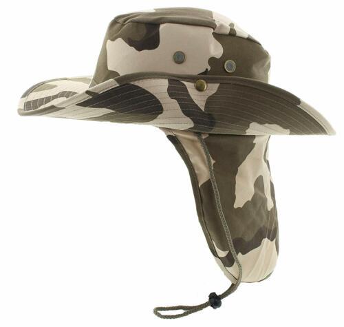 Sombrero Para Hombre De Verano Con Solapa En El Cuello Y Protección Solar