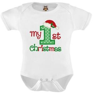 My First Christmas.Details About My 1st Christmas Baby Vest My First Christmas Baby Present Xmas Bodysuit 7 0