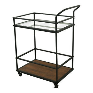 2-Tier-Kitchen-Islands-Kitchen-Carts-Kitchen-Bar-Serving-Cart-with-Glass-Shelves