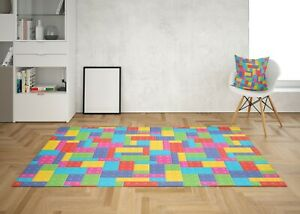 Colorful Rug Kids Bright Floor