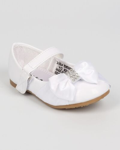 Comfy Toddler Big Kids Sizes Girls Satin Bow Ballet Flats Mary Jane Mogi Mogical