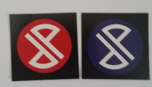 2-PUNISHER-Skateboards-Stickers-approx-2-034-x-2-034-NEW