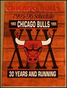 Image Is Loading 1995 96 Chicago Bulls Pocket Schedule Miller Genuine