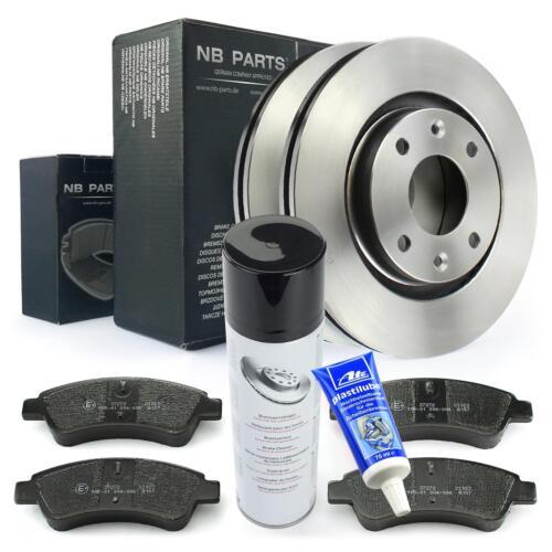 Bremsscheiben 266mm belüftet Bremsbeläge vorne Citroen Peugeot Bremsen Set