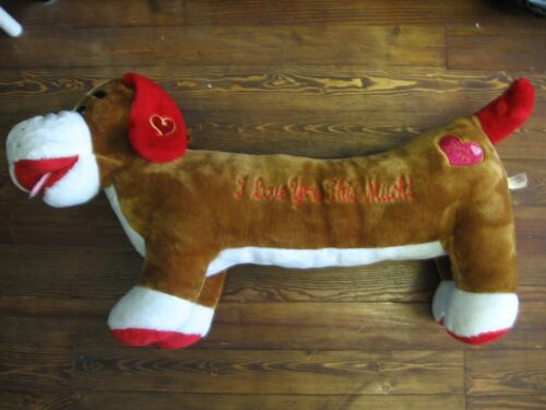 """36"""" plush """"I Love You This Much"""" Puppy Dog doll, made by Dan Dee, good condition"""