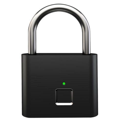 Smart Keyless Fingerprint Padlock USB Lock Door Drawer Suitcase Case Anti-Theft