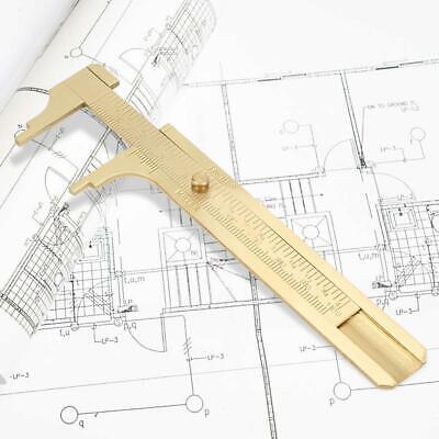 80mm Single Scale Vernier Caliper Brass Measuring Mini Ruler Portable Vintage