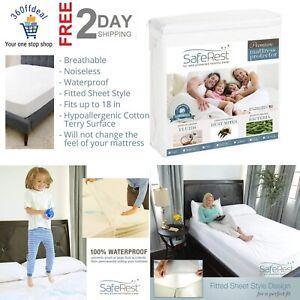 Queen Size Premium Hypoallergenic Waterproof Mattress Protector Vinyl Free Set Ebay