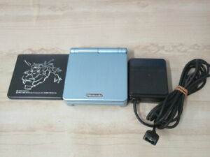 L921-Nintendo-Gameboy-Advance-SP-console-Pearl-Blue-amp-Adapter-Japan-GBA-w-cover