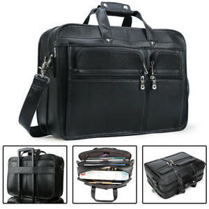 52a43a9f98b1 Real Leather Briefcase Messenger Bag For Men 17