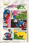 1983 Captain America Annual 7 page 18 Marvel Comics color guide comic art:1980's