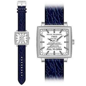 NEW-Dr-Who-Mens-Quartz-Watch-Tardis-Dial-Analogue-Display-Blue-PU-Strap