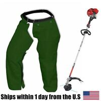 Line Trimmer Weed Eater Wrap Around Chaps Protects Legs Pants Forest Green Xl on sale