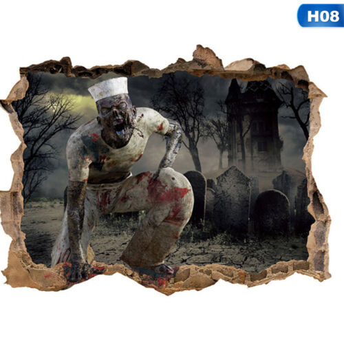 Halloween Ghost Hand Zombie Window Wall Stickers Horror Decal Home Party Decor