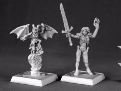 Nualia and Erylium Pathfinder Series Miniatures by Reaper Miniatures RPR 60012
