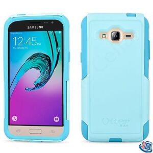 brand new 51327 546d6 Details about New OEM Otterbox Commuter Series Aqua Sky Blue Case for  Samsung Galaxy J3 V