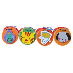 Cartoon-Castanets-Kids-Child-Baby-Wooden-Castanet-Clapper-Handle-Musical-JCA