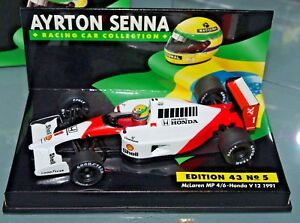 minichamps f1 1/43 mclaren mp4/6 honda v12 1991 - senna collection