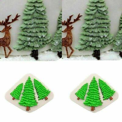 3D Christmas Tree Silicone Mold Fondant Cake Decorating ...