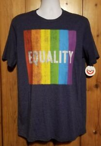 033096d452bf Gay Pride LGBT Adult Short Sleeve Equality T-Shirt - Heathered Navy ...