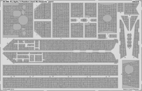 Eduard 1:35 Pz.Kpfw.V Panther Ausf.D Zimmerit for Zvezda PE Detail Set #36308