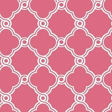 White Open Trellis on Hot Pink Background Wallpaper WB5511