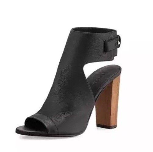 Vince Addie Mujer Peep Toe Toe Toe botaie De Cuero Negro 6594 talla 10 m  395  mejor opcion