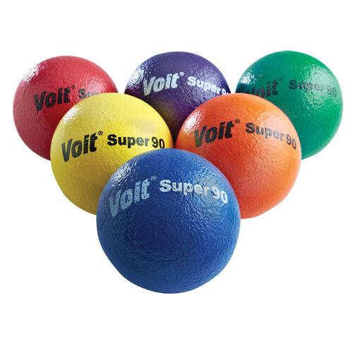 Voit® Tuff Super 90 Foam Balls Rainbow Pack of 6