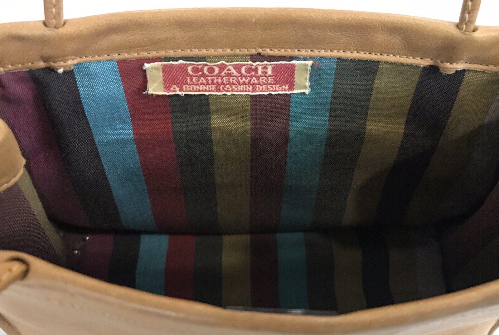 Vintage Coach Rare Leather Bonnie Cashin Stripe I… - image 9