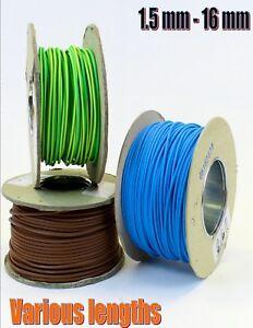 Earth Green Yellow 16mm Single Core 6491X Cable Wire Earthing Bonding x 1 metre