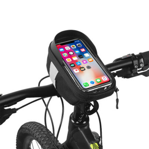 Waterproof Bicycle Handlebar Bag Touch Screen Bike Front Tube Phone Case Pouch