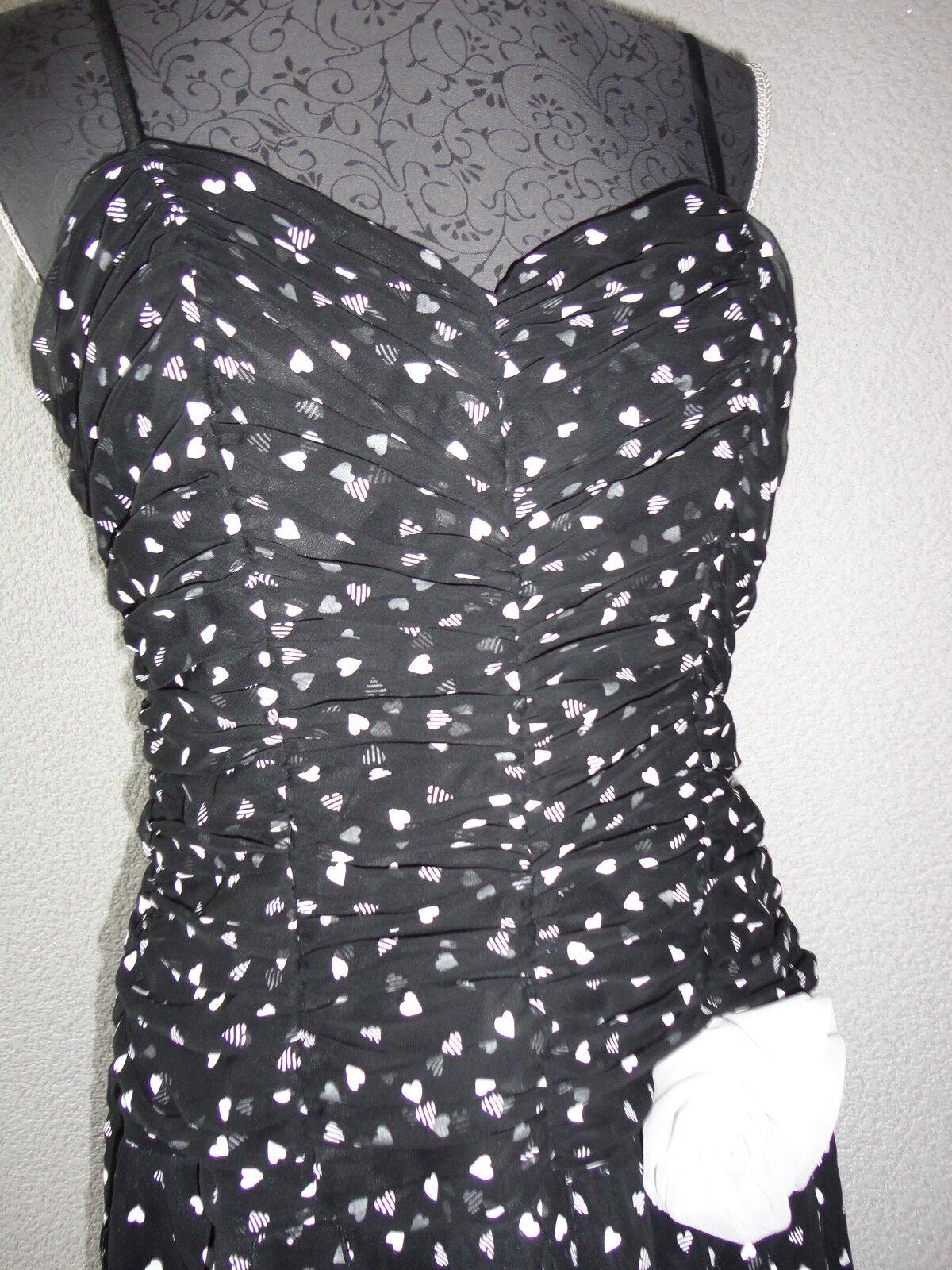 Träger-Kleid Standesamtkleid Traumkleid Abendkleid Gr.40 42 schwarz weiß wie Neu