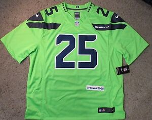 newest e7eb8 c6ee7 Details about NWT Nike Seattle Seahawks Color Rush Limited Jersey RICHARD  SHERMAN #25 Sz 2XL
