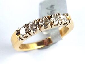 799157a073 Das Bild wird geladen Ring-Bandring-Memory-Memoire-Damen-Diamant-750-Gold-
