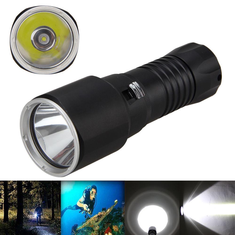 6000LM XM-L2 LED Scuba Diving 100M Waterproof 32650 LED Flashlight Torch