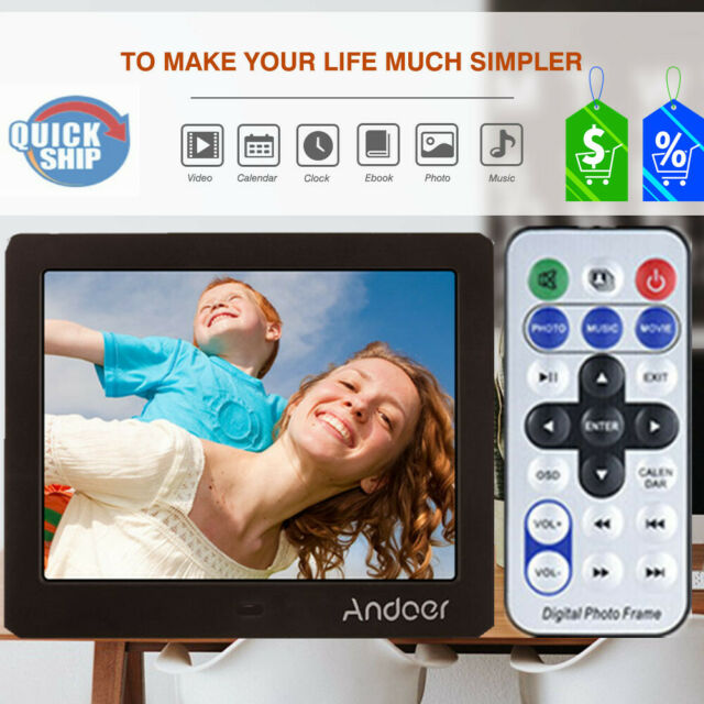 Andoer 12 Inch Digital Photo Frame 1280 800 Resolution With Remote Control Si For Sale Online Ebay