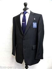 Men's Charcoal Pinstripe Alexandre Savile Row Suit 42L W36 L33 SS6349