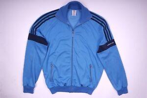 Details zu Adidas Trainingsjacke Sportjacke Jacke Vintage Retro Blau Herren Größe 54 L
