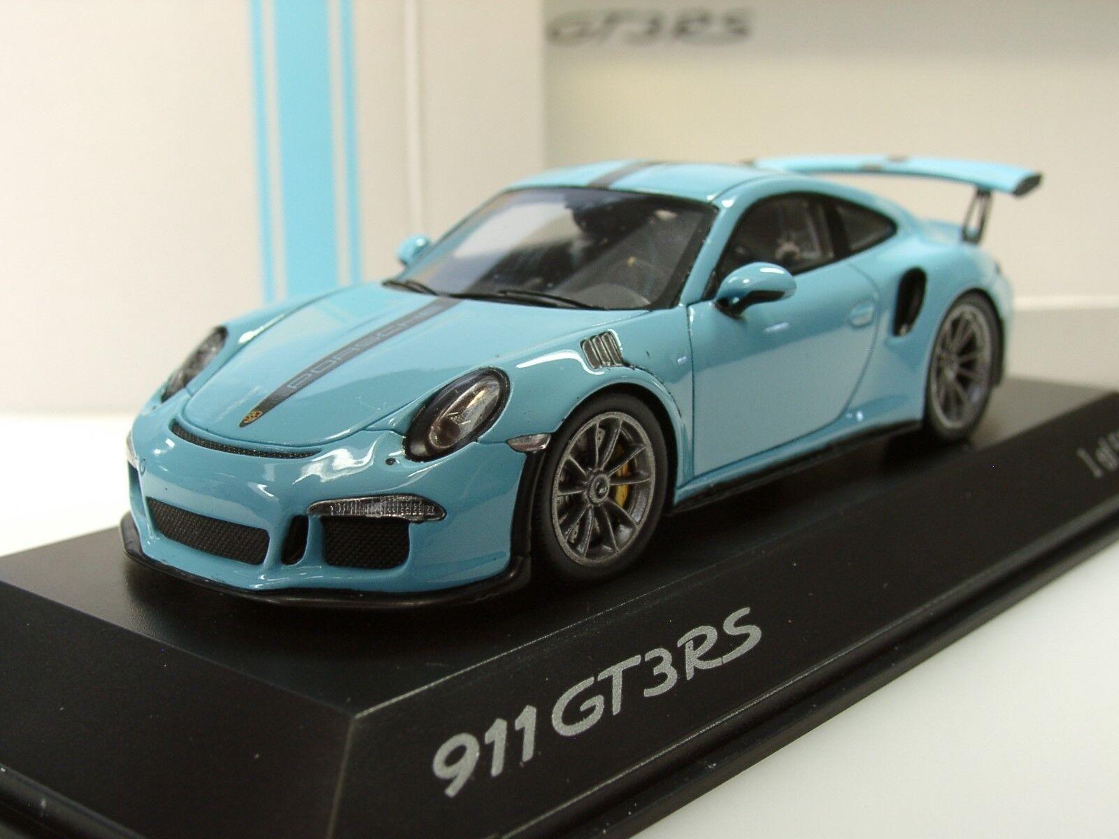 Funke - porsche 911 gt3 rs, hellblau - dealer - modell, lim.500 - 1 43