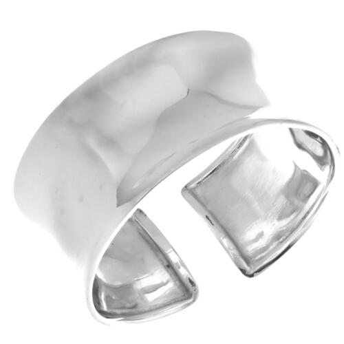 """de large Concave 925 Sterling Silver Cuff Bracelet 3 cm 1 1//8/"""""""