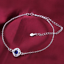 miniature 14 - 925 Sterling Silver Plated Anklet Ankle Bracelet Crystal Foot Chain Ladies CZ UK
