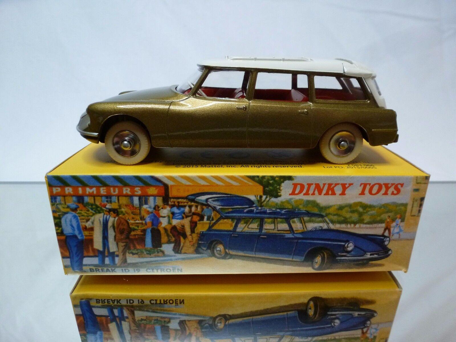 DINKY TOYS ATLAS 539 CITROEN ID 19 19 19 BREAK - BRONZE 1 43 - MINT IN BOX 2ef641