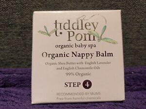 Tiddley Pom Organic Nappy Balm Baby Spa Shea Butter Lavender Chamomile 50ml