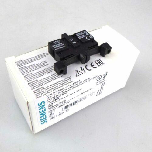 Siemens Boutons élément 3sb3 420-0b 10stk. neuf dans sa boîte