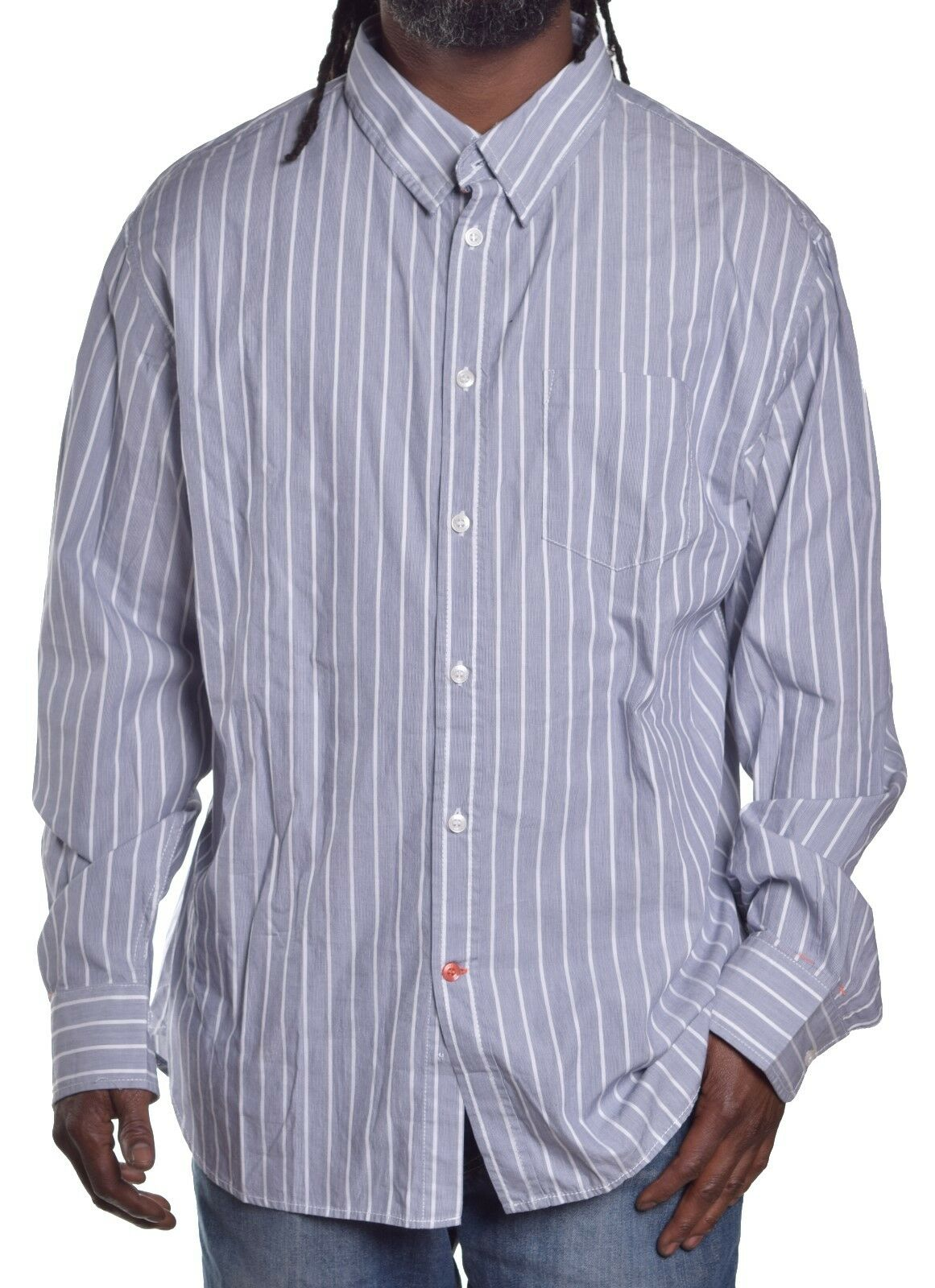 French Connection Men's  Casual Stripe Button Up Shirt Size 2XL